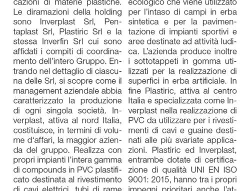 IMPRENDITORIA AL TOP, il segreto del made in Italy – Il Gruppo della plastica. Dalla holding Inverfin Srl prodotti nuovi ed ecologici