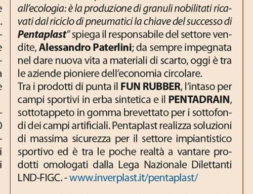 PENTAPLAST, primi a produrre intaso prestazionale nobilitato per campi sportivi in erba sintetica